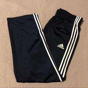 Adidas Classic Blue 3-Stripe Athletic Track Pants